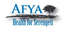 Käy AFYA Health for Serengeti -sivustolla